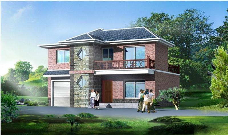 供应两层房屋自建房住宅楼房建筑施工图二层房屋楼房设计图施工图077