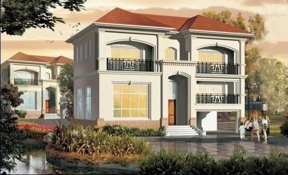 二层别墅房屋自建房住宅楼房设计图纸效果图全套cad施工图纸050