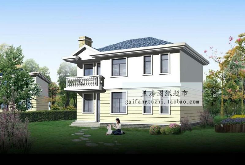 新农村二层楼房设计图效果图_新农村二层楼房-四川二层楼房图片高清图片