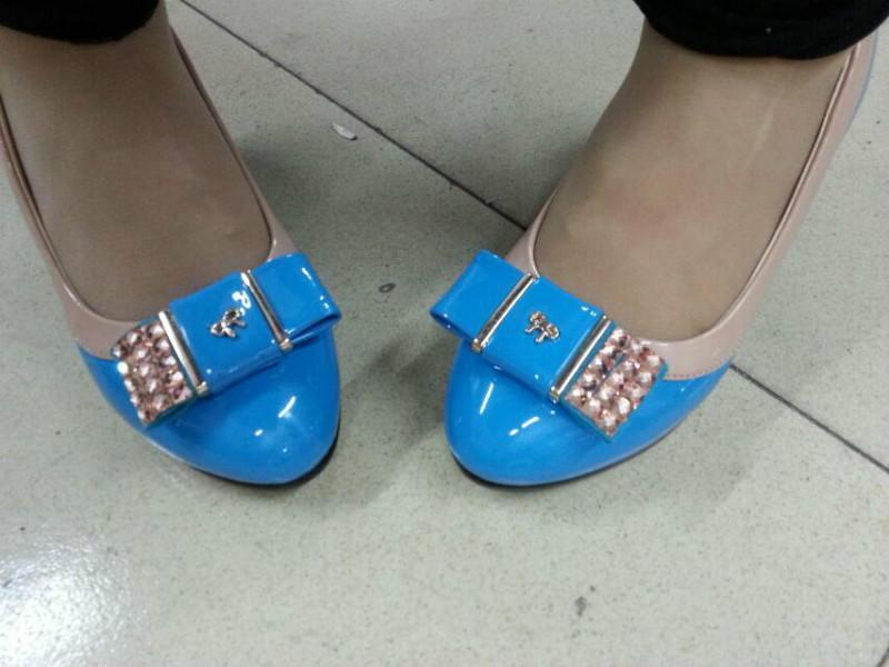 供应步珊品牌公主单鞋欧美坡跟鞋单女式坡跟单鞋新款单鞋
