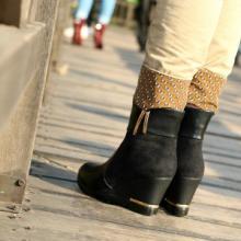 供应新款品牌女鞋欧美风格马丁靴坡跟鞋批发工厂直销招淘宝代理可代发批发