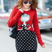 专注韩版毛衣定做加工图片