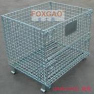 供应赣州仓储笼,周转箱,可折叠铁笼,带中空板仓储笼,最便宜的仓储笼