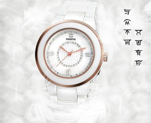 香特儿YB112陶瓷手表陶瓷腕表陶瓷工艺手表制作厂家