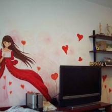 供应江西南昌家装背景墙彩绘设计图片18070031091图片