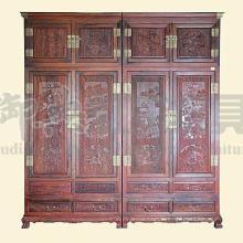 梅兰竹菊顶箱柜 红木顶箱柜 红酸枝顶箱柜衣柜图片