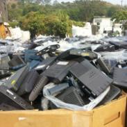 机顶盒退港环保销毁处理图片