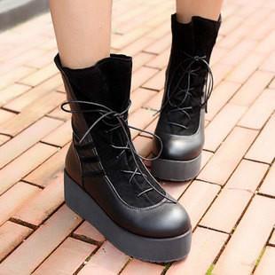 马丁/供应朋克马丁靴欧美短靴中跟靴平底靴系图片