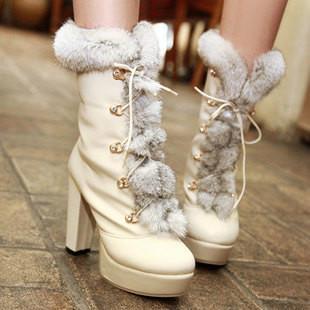 欧美 高跟靴/供应欧美骑士靴圆头中筒靴超高跟靴方跟靴 图片