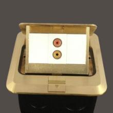 供应欧普正品AV音频免焊接音频地插座批发