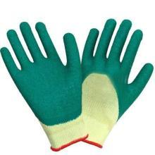 浸棉毛圈乳胶细纹劳保手套