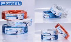 供应视频线批发商/PFT高清四屏蔽有线电视线0.95无氧铜白铝网112编