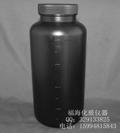 供应黑色塑料广口瓶2000ml化工瓶 大口瓶 塑料瓶