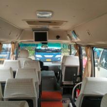 供应用于旅游租车的东莞长安到清远古龙峡漂流租大巴图片