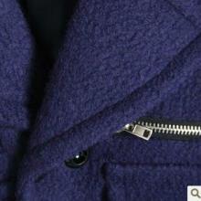 供应2013秋冬韩国双排扣拉链翻领中长款进口羊毛毛呢外套大衣批发