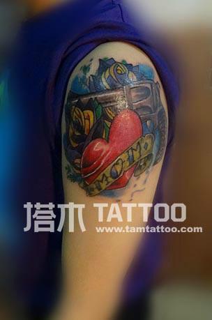 枫叶纹身图案