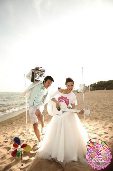 可爱婚纱照片欣赏