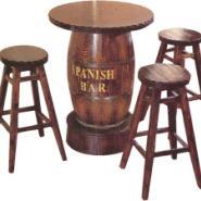碳化木桌椅户外实木桌椅图片