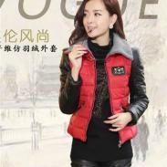 韩版时尚棉拼PU棉衣短外套GYJL1368图片