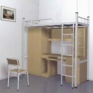 河南钢木质公寓床图片