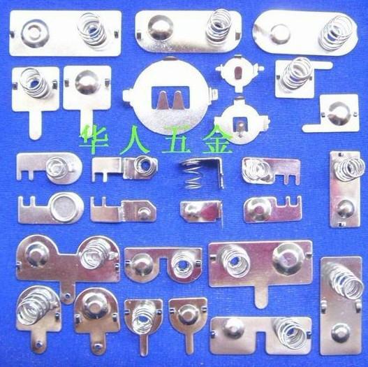 供应电池弹簧片接触片双弹簧电池片