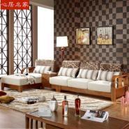 心居名家现代中式全实木沙发组合图片