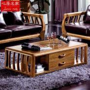 现代中式客厅家具虎斑木实木茶几图片