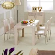洛克威登时尚简约米白色餐桌图片