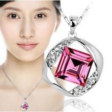 供应水晶女人锁骨项链