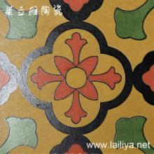 供应莱立雅瓷砖地中海葡式田园风格美欧式小花砖凹凸面纯手工砖1010