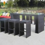户外家具-酒吧套件-仿藤桌椅套件图片