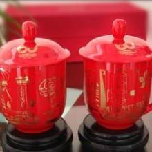 景德镇火炬陶瓷厂定做红瓷茶杯