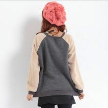 2014新款韩版卫衣卡通加厚抓绒套头卫衣批发女装生产厂家现货供应批发