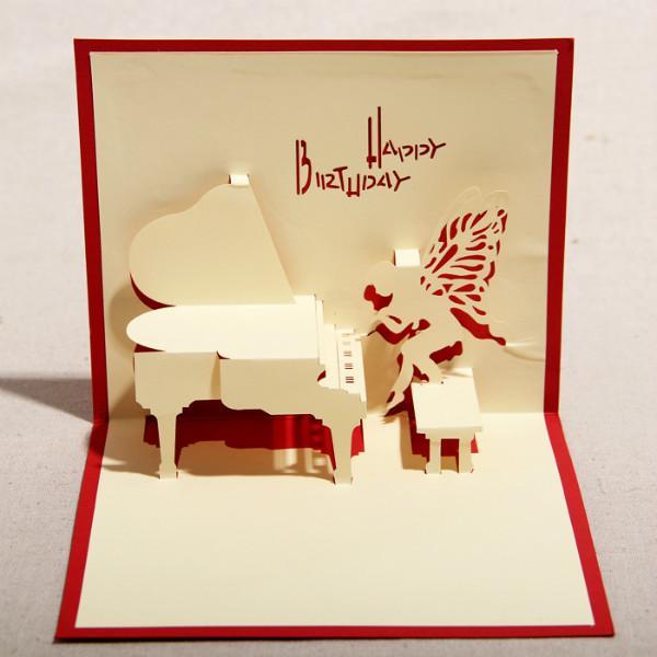 创意手工立体钢琴图片