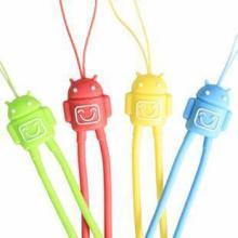 新款硅胶手机吊绳  硅胶环保材料 卡通动物可爱硅胶吊饰图片
