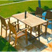供应广东户外家具户外藤木桌椅
