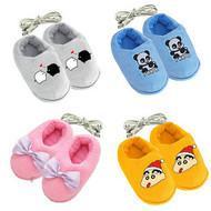 冬送女友USB暖脚宝 卡通毛绒暖脚鞋 USB保暖鞋电暖鞋 充电棉拖鞋图片