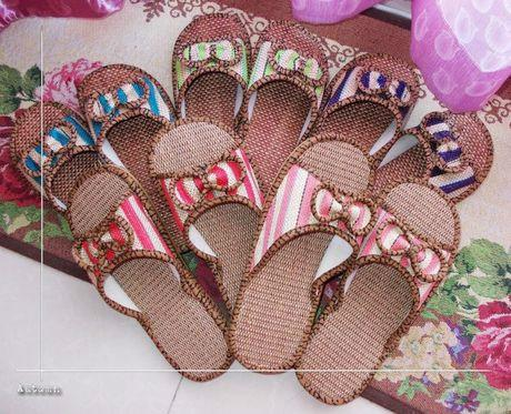 牛筋底亚麻拖鞋情侣地板居家鞋托鞋四季拖鞋女外贸防滑鞋