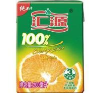 汇源100橙果汁200ml盒装图片