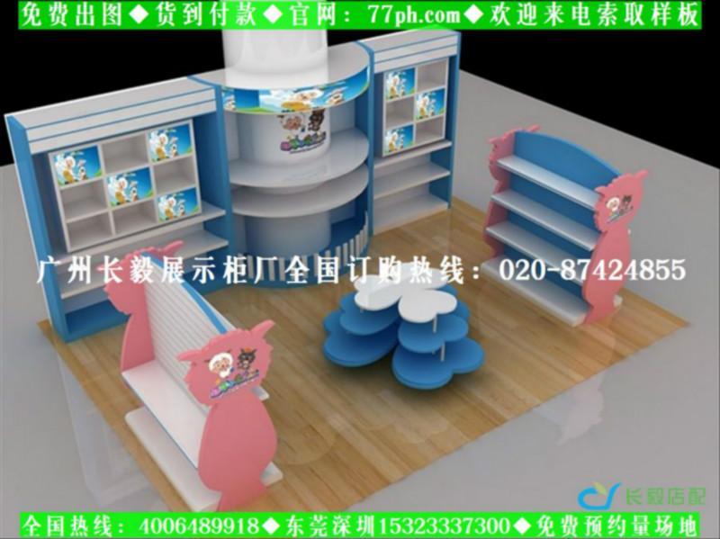 店铺装修效果图(图)   长毅展示柜厂童装店铺装修效果图图片高清图片