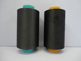供应用于高档面料 的有机环保竹炭功能性涤纶长丝