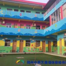 供应郑州彩绘幼儿园彩绘河南墙体彩绘图片