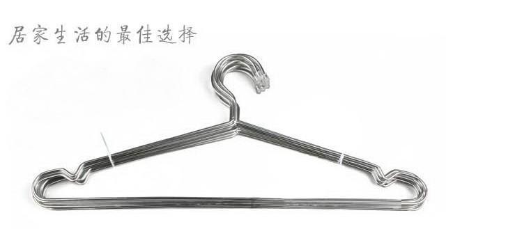 【批发供应】40cm不锈钢实心衣架 粗3.2mm 衣架 衣架批发 衣