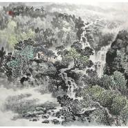 酒店办公室山水国画风水画图片