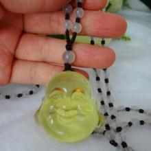 供应天然柠檬晶雕件弥勒佛吊坠水晶弥勒佛雕件QQ2501326982图片