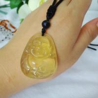 供应天然弥勒佛柠檬晶雕件天然水晶弥勒佛雕件QQ250132698