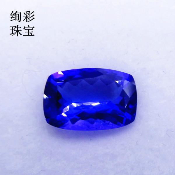 供应经典18K金镶嵌坦桑石蓝宝石裸石 坦桑石批发