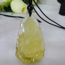 供应天然柠檬晶观音雕件柠檬晶批发水晶批发QQ2501326982图片