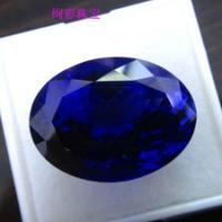 供应北京坦桑石裸石纯天然椭圆形坦桑石批发QQ:2501326982