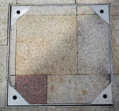 供应不锈钢隐形铺砖井盖/雨水篦子/不锈钢下沉式井盖图片图片